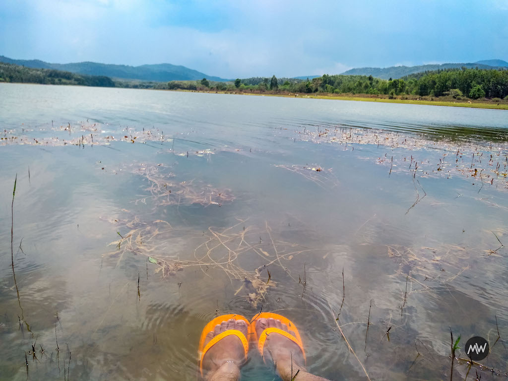sitting in river - Places to Visit in Chikmagalur