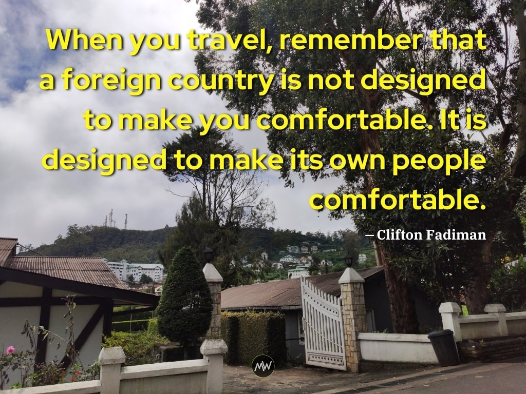 Clifton Fadiman Solo Travel Quote