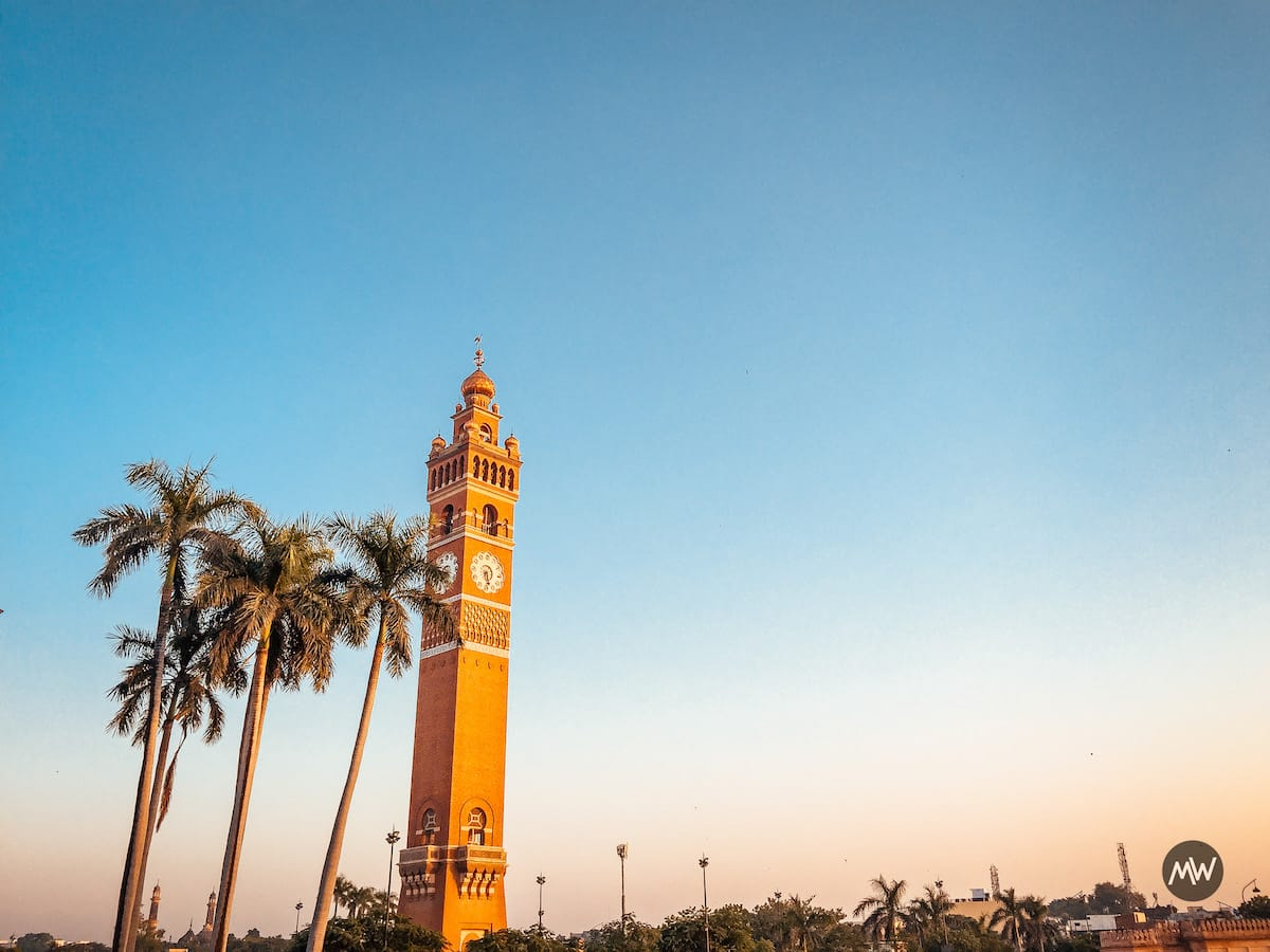 Hussainabad Clock Tower - Tallest Clock Tower of India - Front View