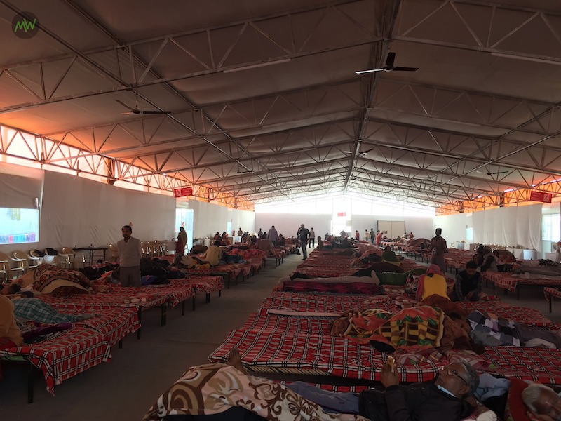 100 INR accommodation at Kumbh Mela