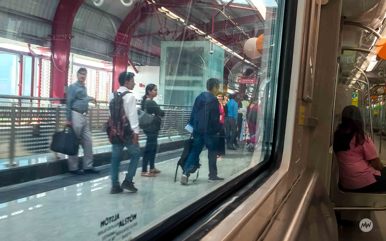 People Boarding in Lucknow Metro