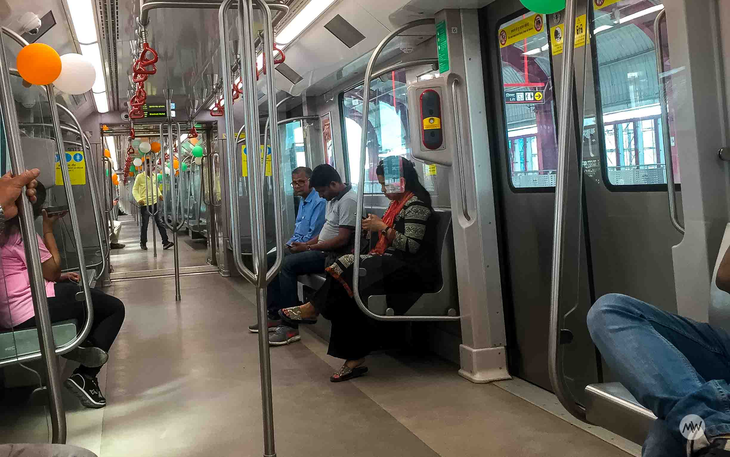 Inside view of Lucknow Metro