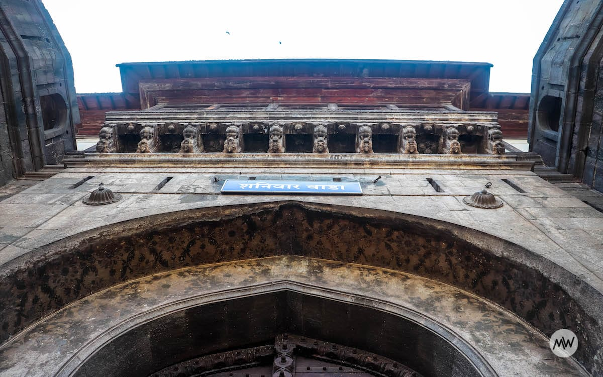 Dilli Darwaza of Shaniwar Wada. It is said that this north-facing Darwaza (gate) towards Dilli (Delhi) was a resemblance to the high ambitions of the Peshwas against Mughals in Delhi.