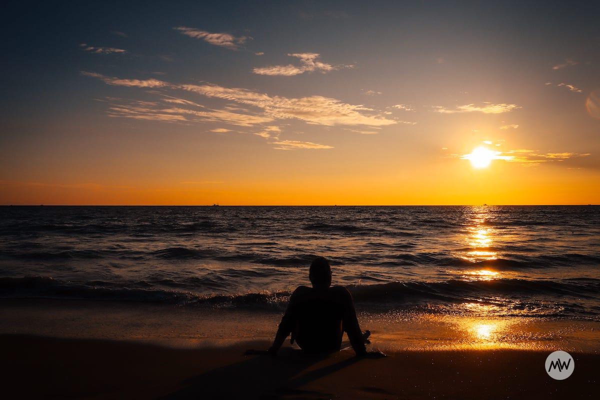 Sunset at Keri Beach in Goa