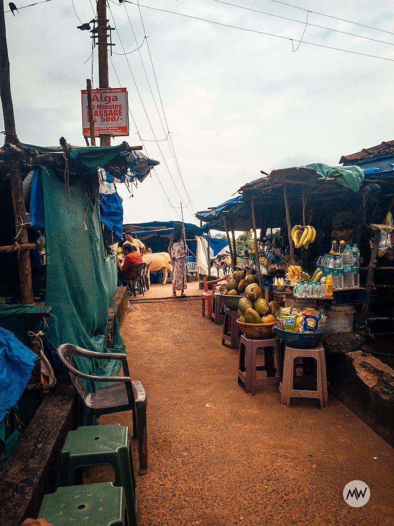 a market near vagator