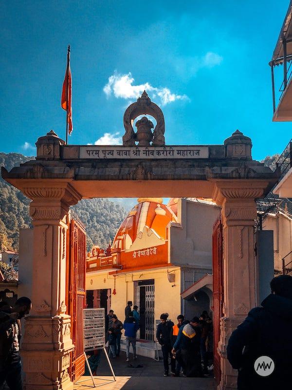 The entrance of Neem Karoli Baba Temple at Kainchi Dham