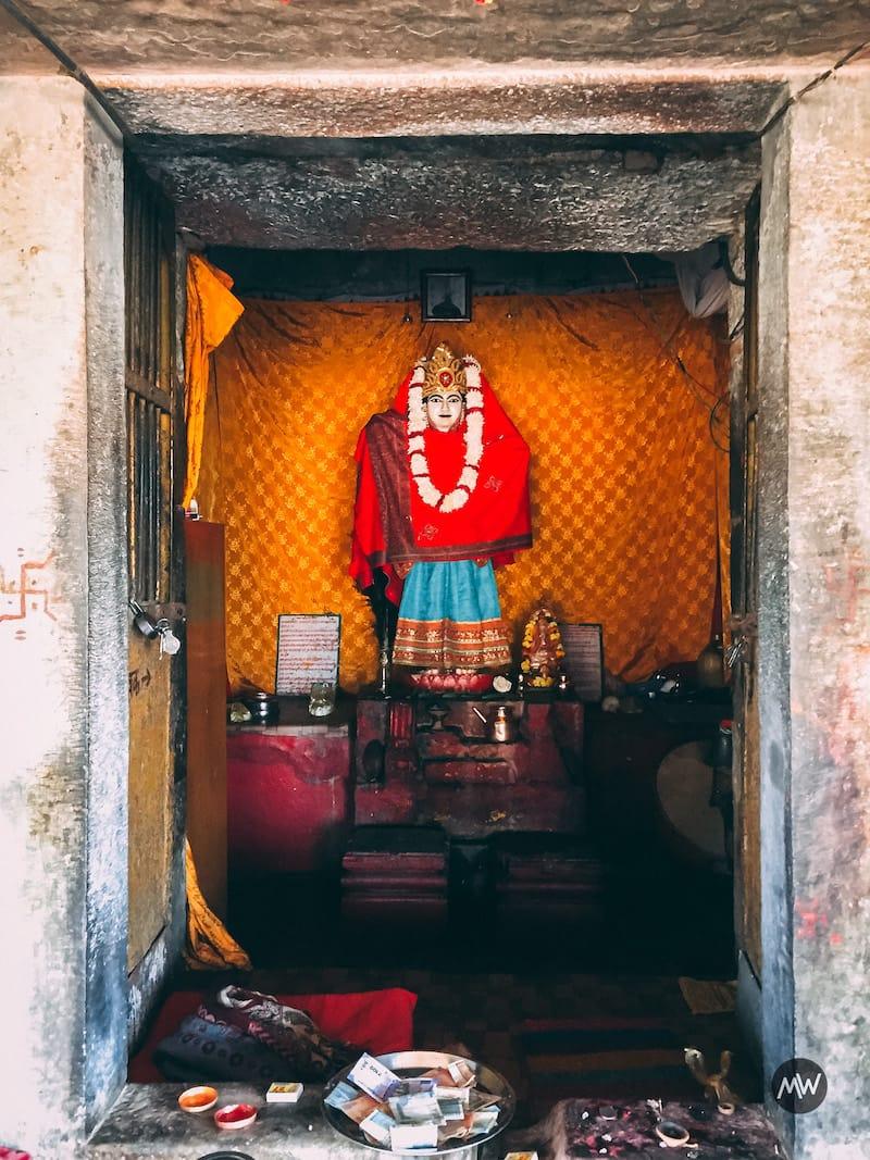 Harshat Mata statue near Chand Baori Stepwell