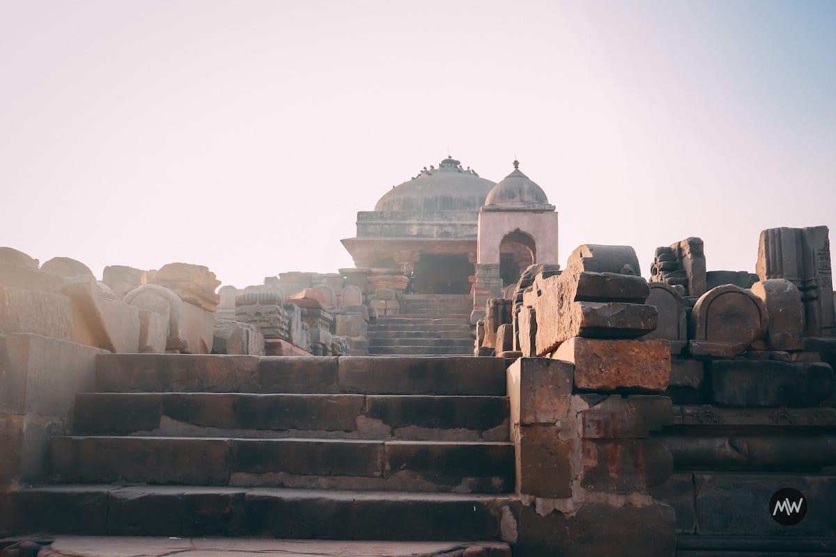 Harshat Mata temple at a height near Chand Baori Stepwell