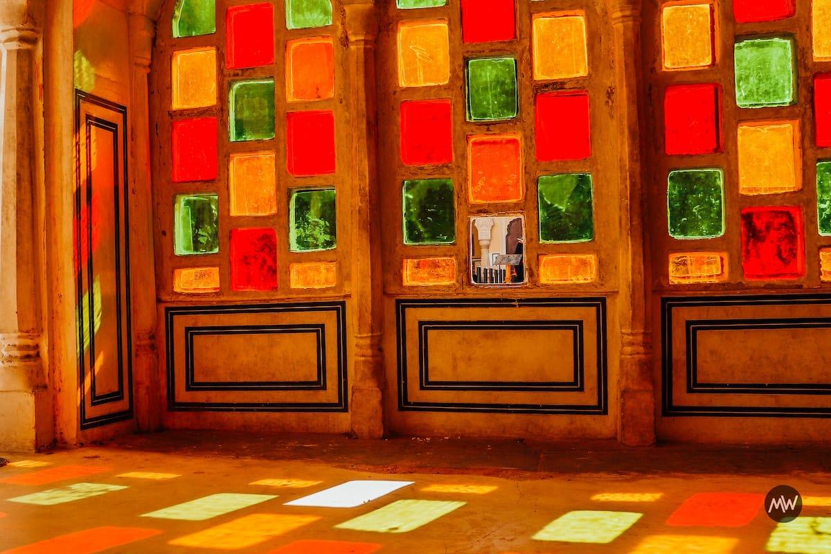 Colorful Pattern Near Maharaja Statue