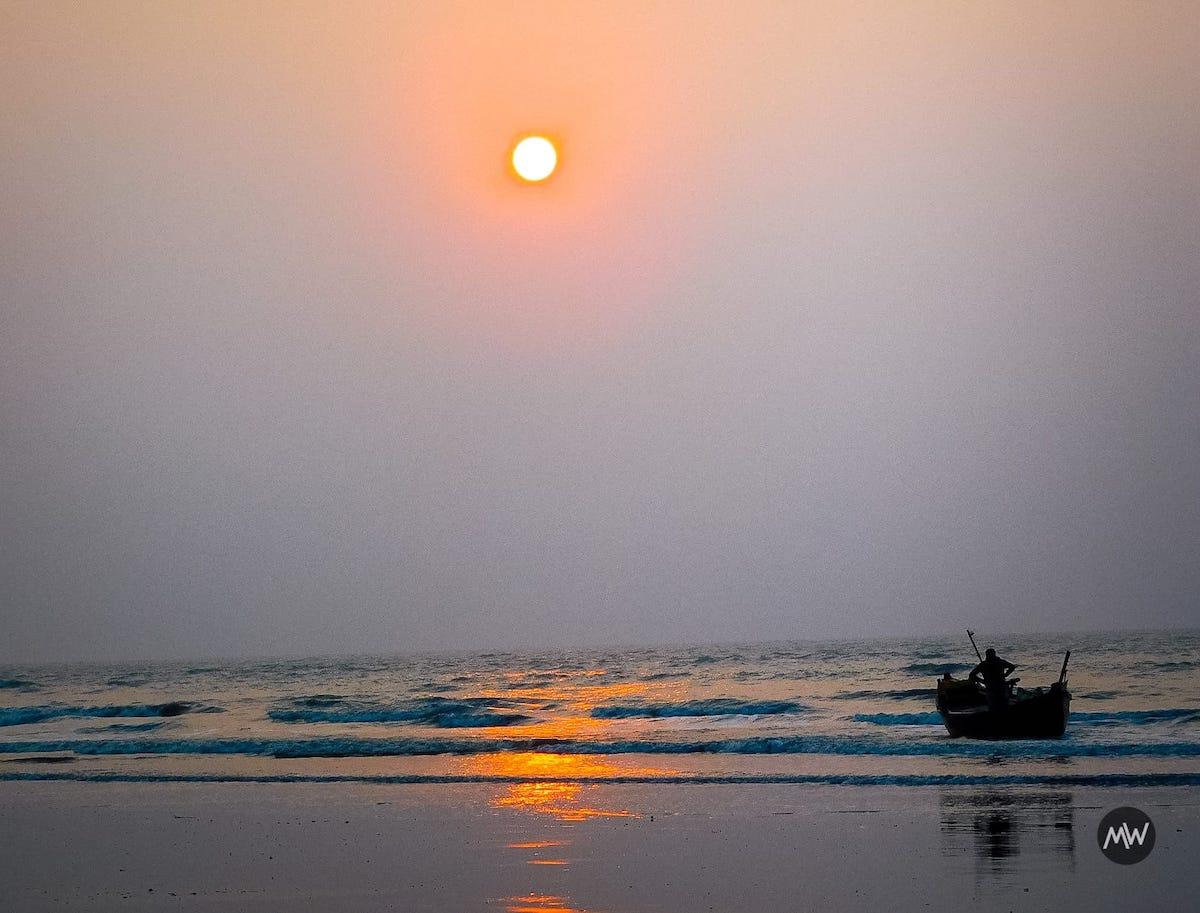 Fishermen and Boats at Mandarmani Beach