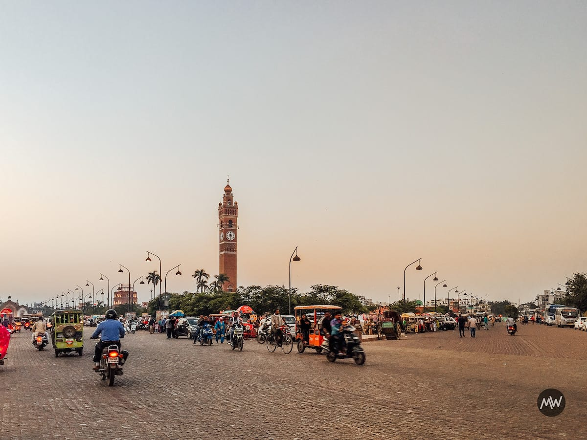 Hussainabad Clock Tower - Tallest Clock Tower of India view from Rumi Gate Road