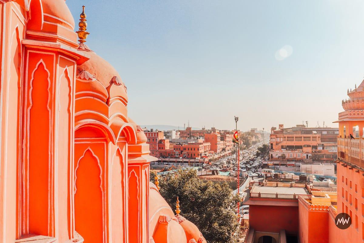 Jaipur as seen from the top of Hawa Mahal