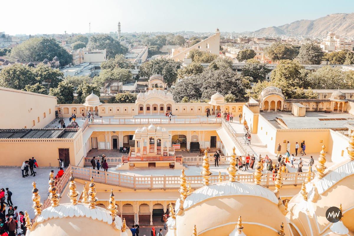 Jantar Mantar as seen from Hawa Mahal