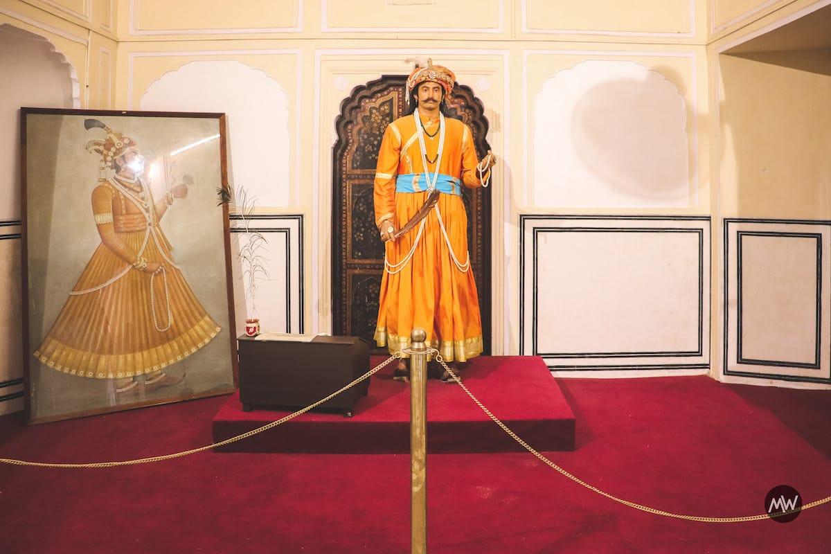 Maharaja Sawai Pratap Singh Statue in Hawa Mahal of Jaipur