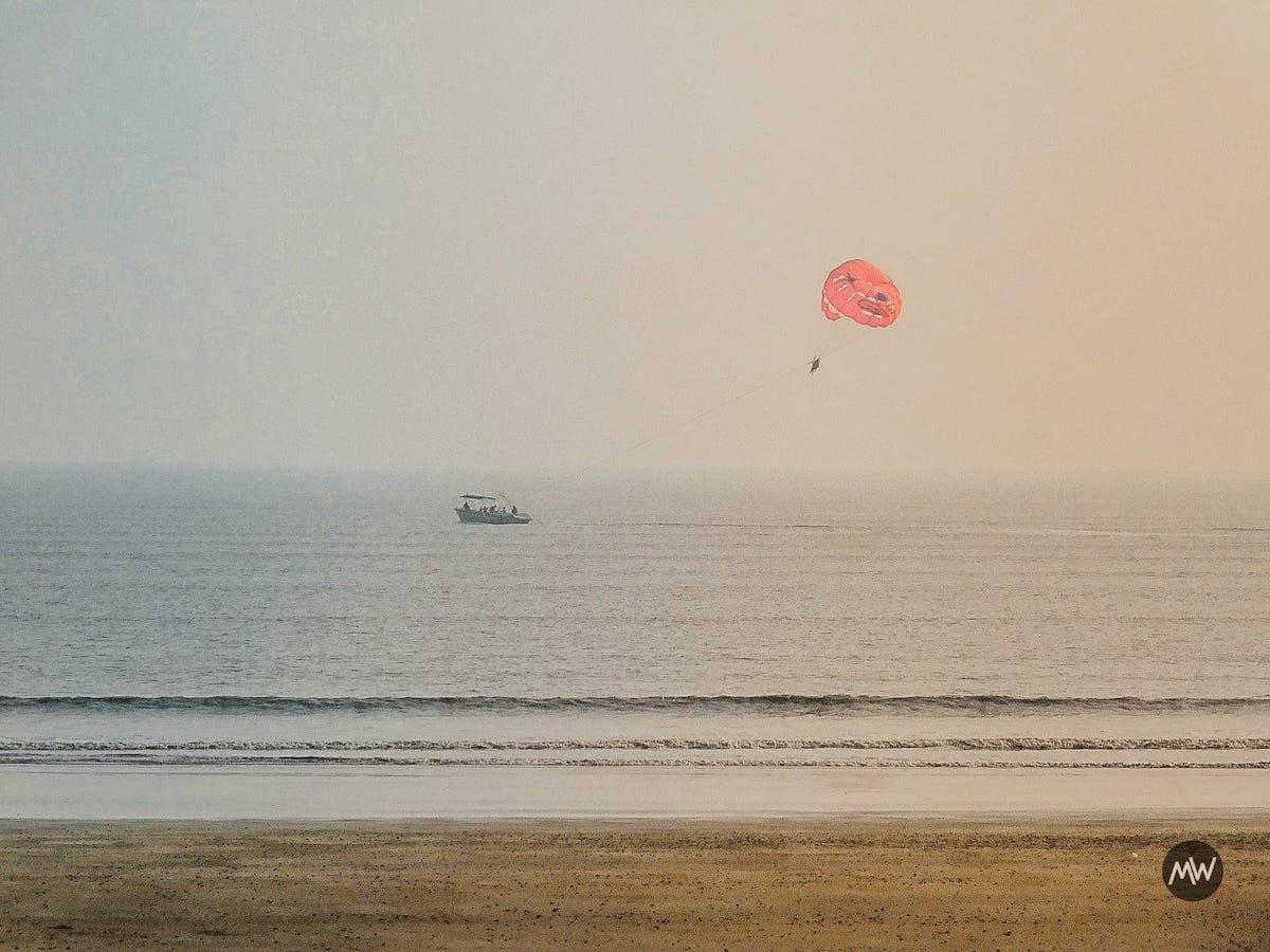 Parasailing at Mandarmani Beach