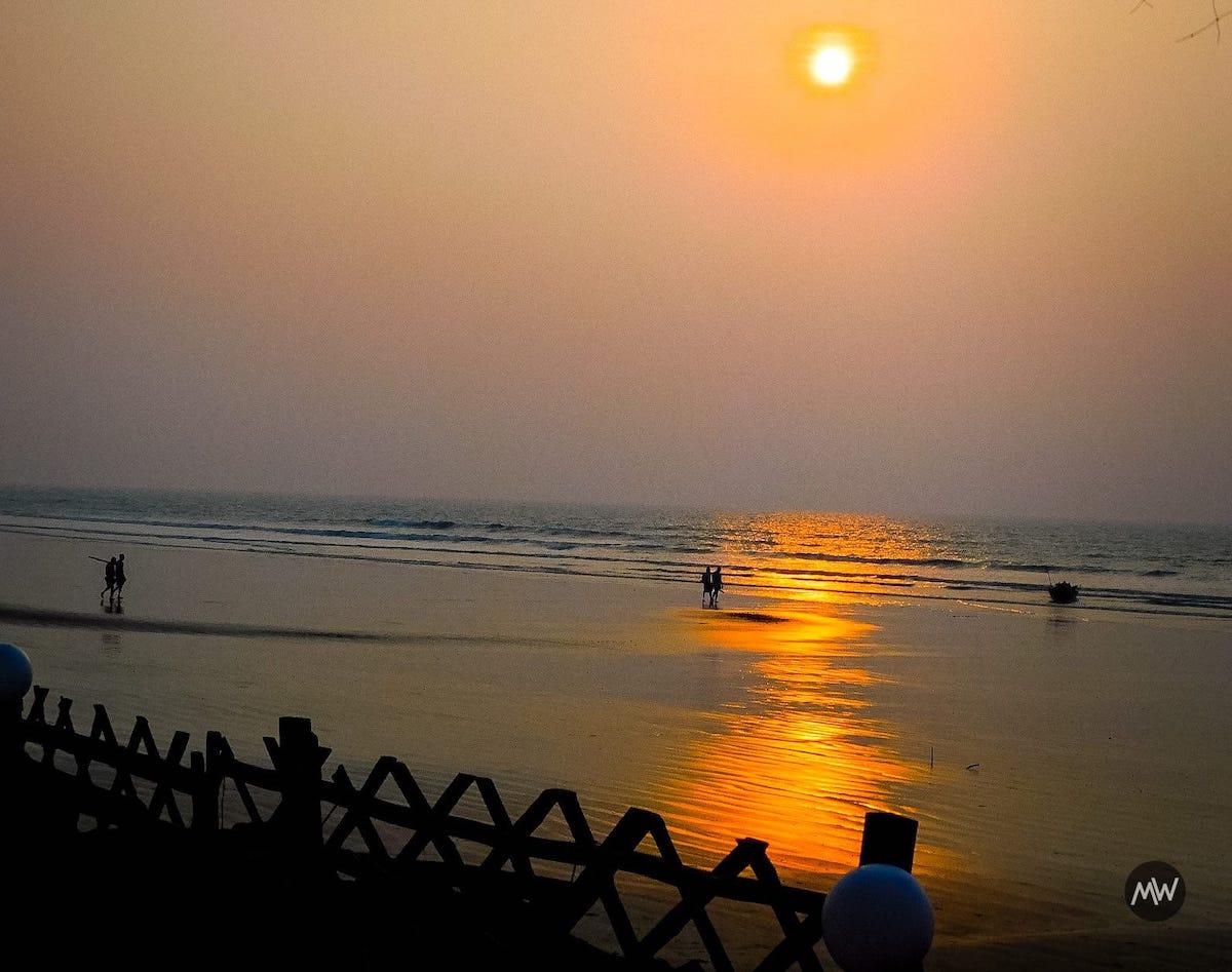Sunset at Mandarmani Beach