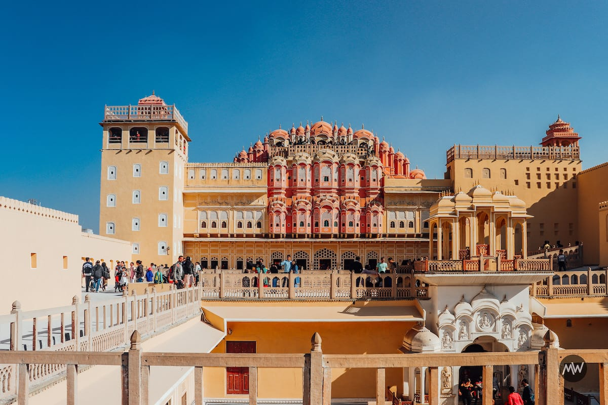 The inner architecture of Hawa Mahal