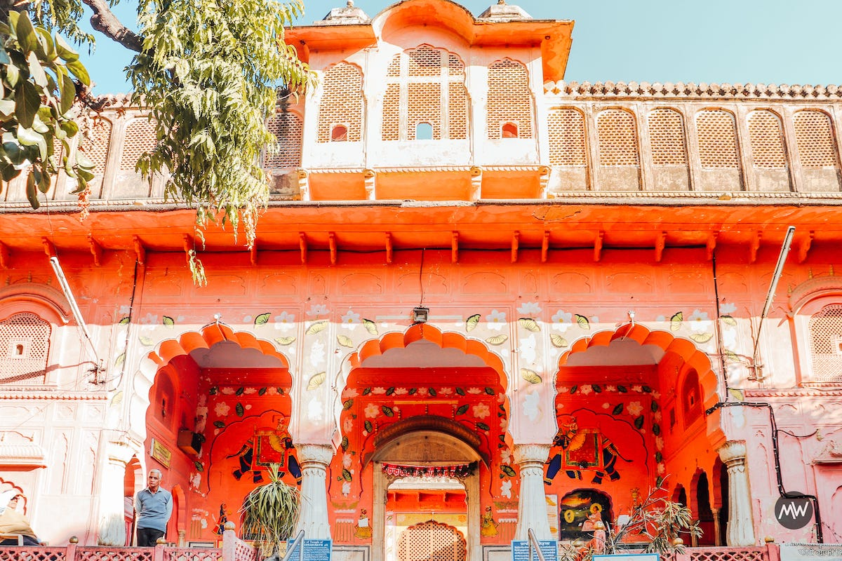 0 Goverdhan Nath temple outside Hawa Mahal Breeze Place  Wind Palace virtual tour