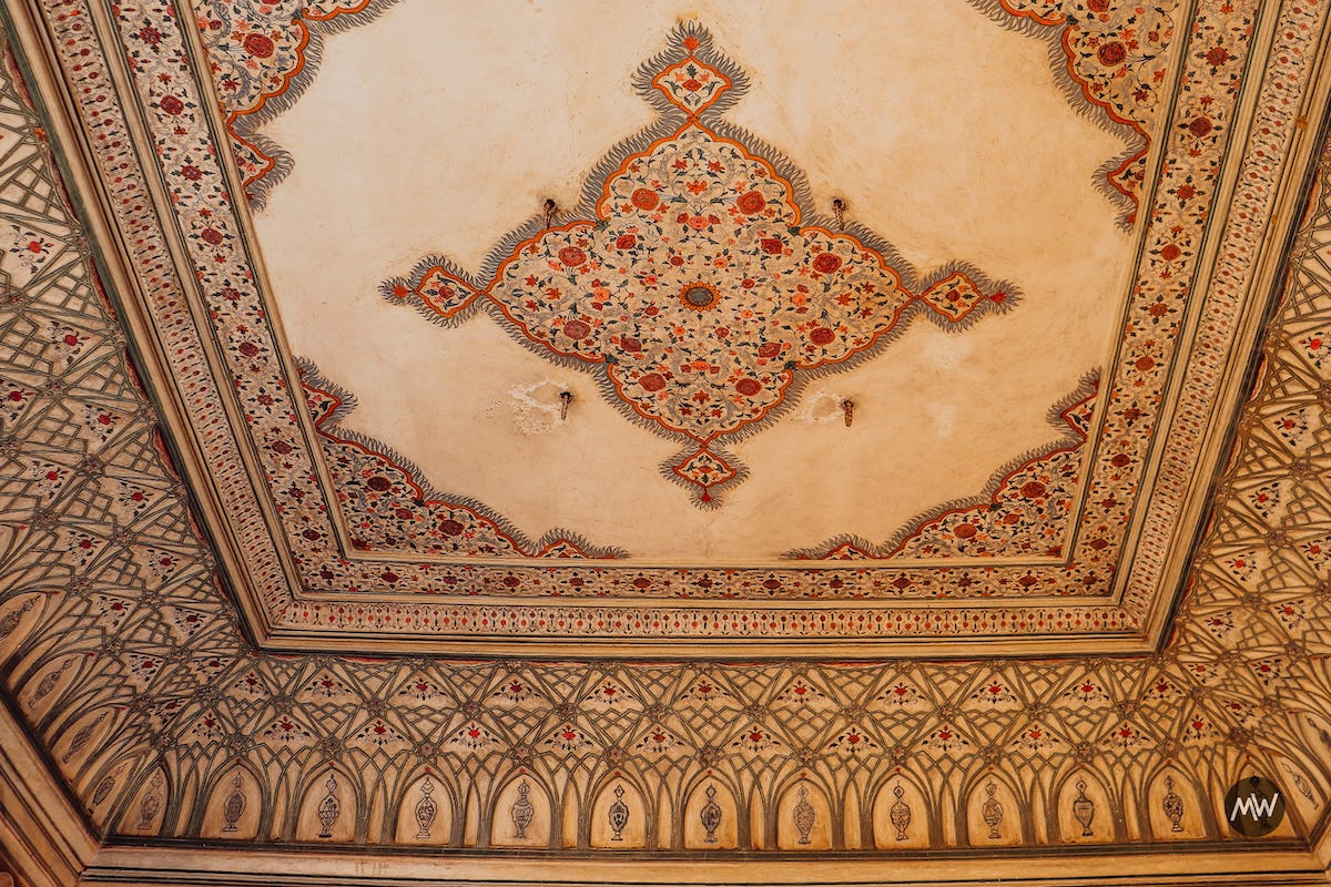 10.2 the ceiling decoration Hawa Mahal Breeze Place Wind Palace virtual tour