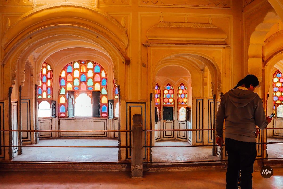 14 observe the windows Hawa Mahal Breeze Place Wind Palace virtual tour
