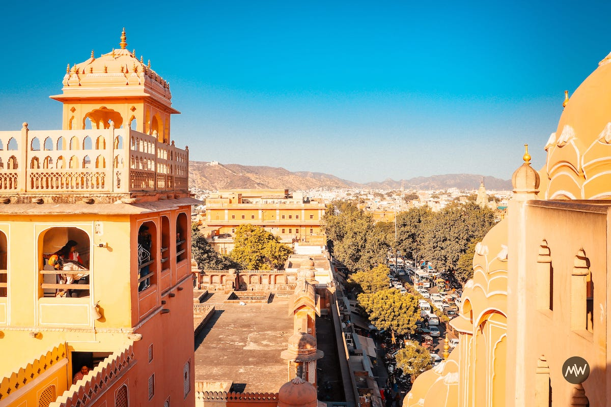 15.2 sight from the top Hawa Mahal Breeze Place Wind Palace virtual tour