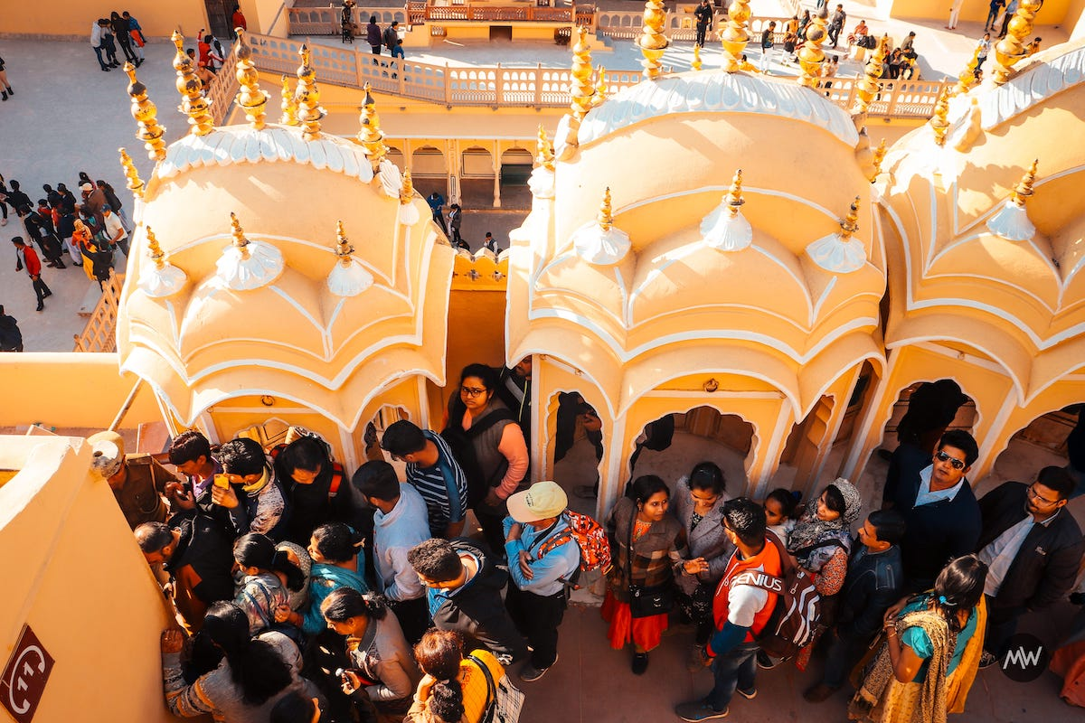 18 look at the people Hawa Mahal Breeze Place Wind Palace virtual tour
