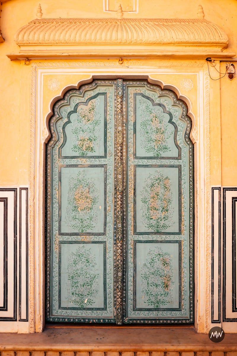 5 door on the left of Hawa Mahal Breeze Place  Wind Palace virtual tour