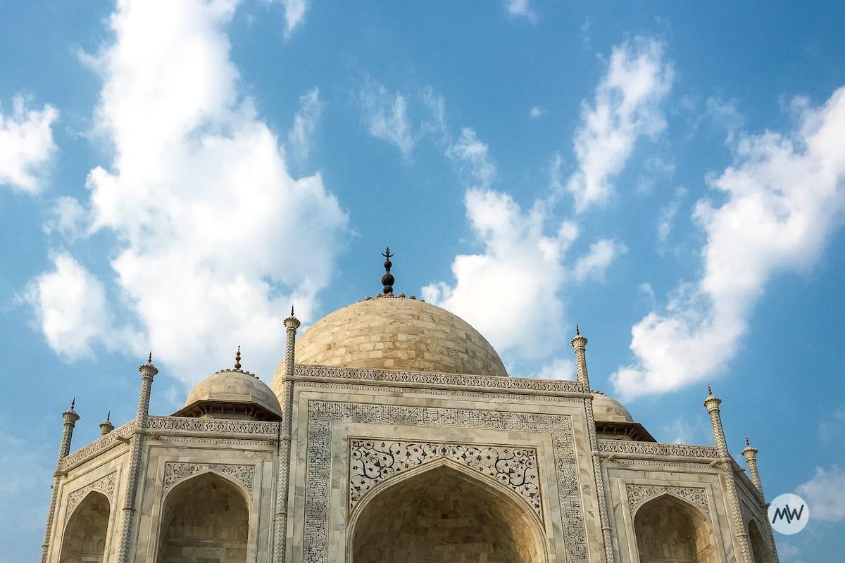Near Front of the taj mahal virtual tour