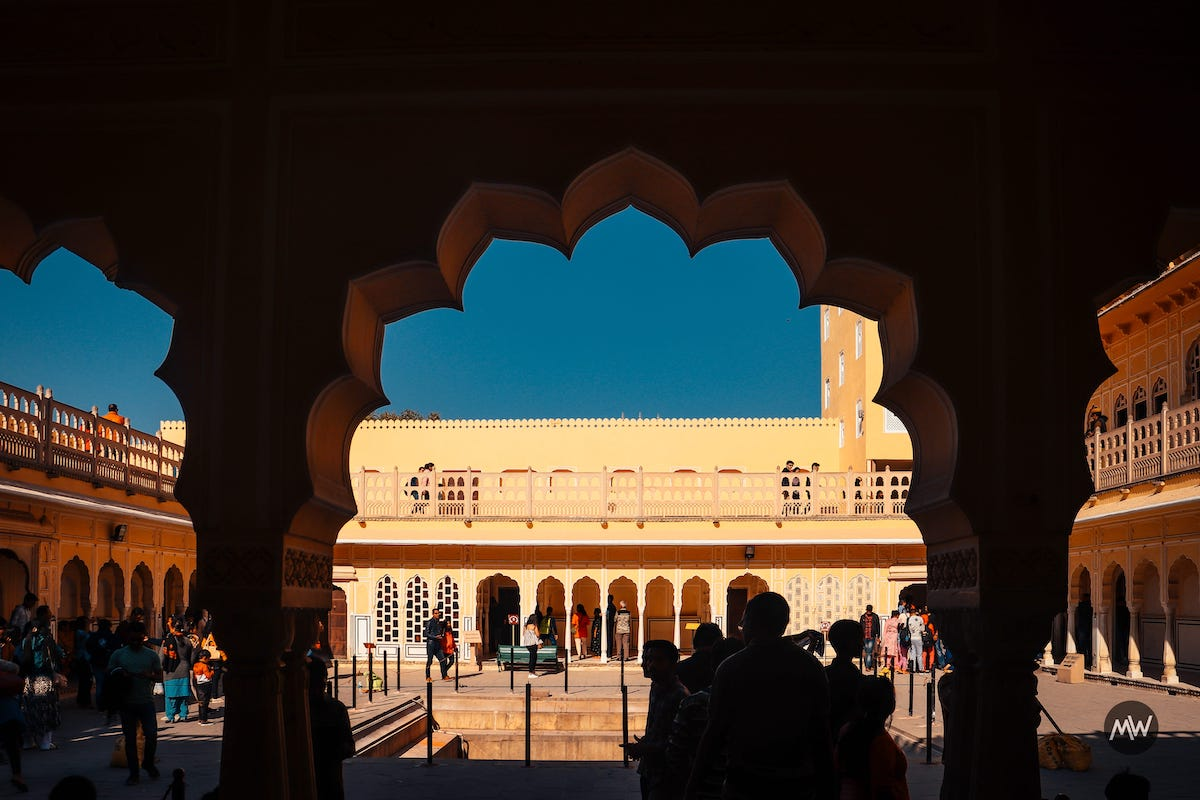 7 You ready to go up Hawa Mahal Breeze Place  Wind Palace virtual tour