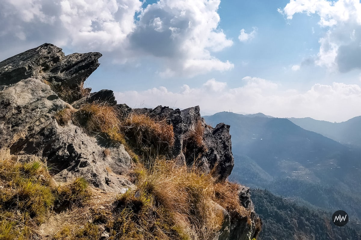 Chauli Ki Jali is a rocky cliff just behind the Shiva temple and is famous for its panaromic view - Mukteshwar Dham