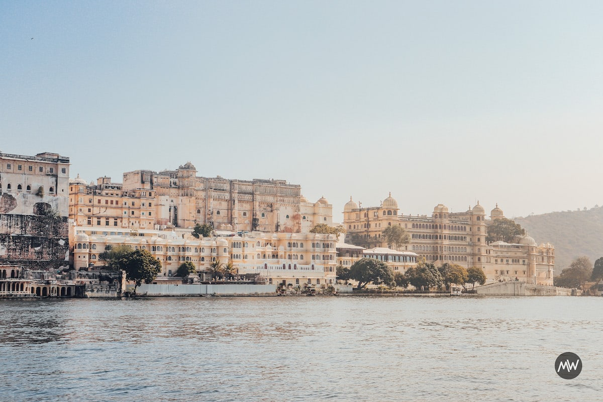 City Palace as seen from Ambrai - Udaipur Places To Visit