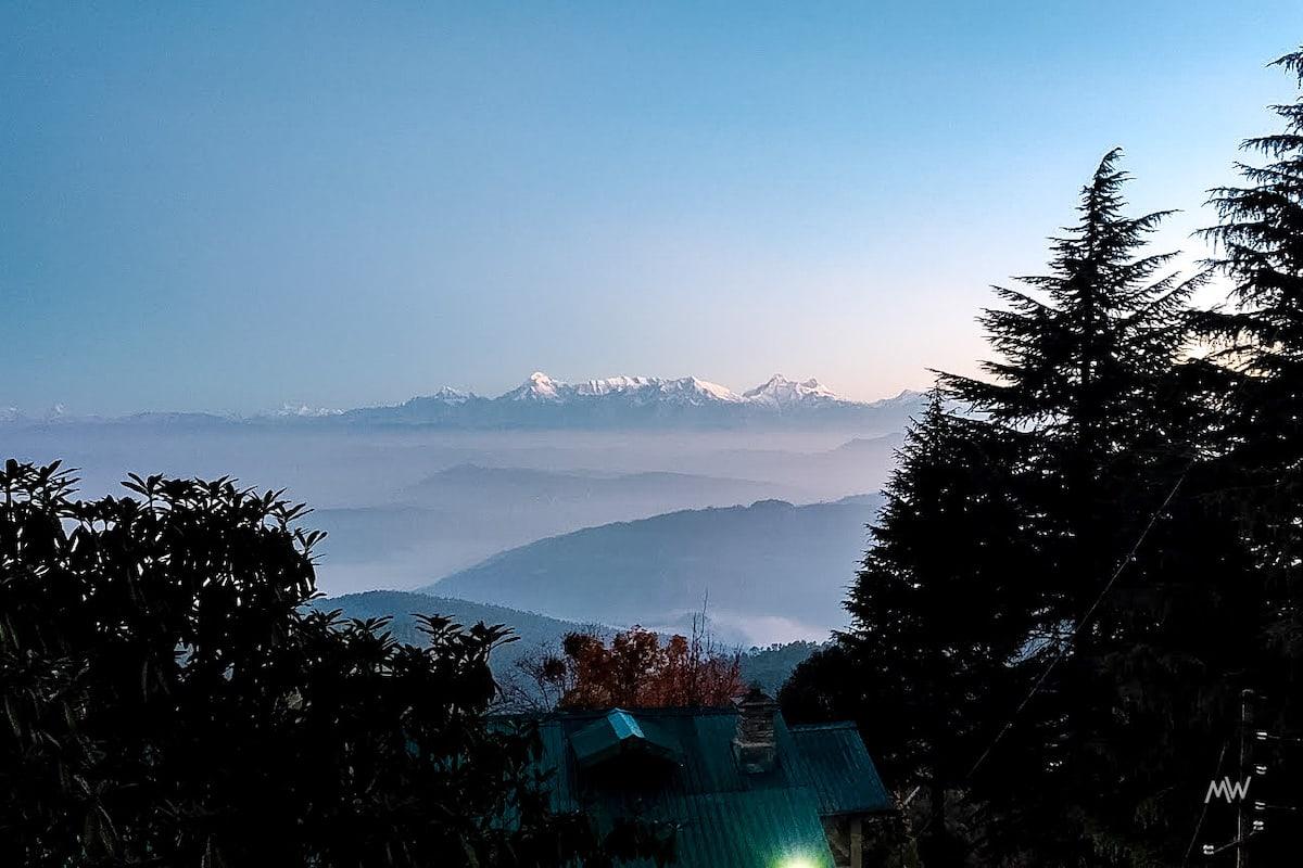 Snow Peaked Himalayas Ranges at Mukteshwar Dham