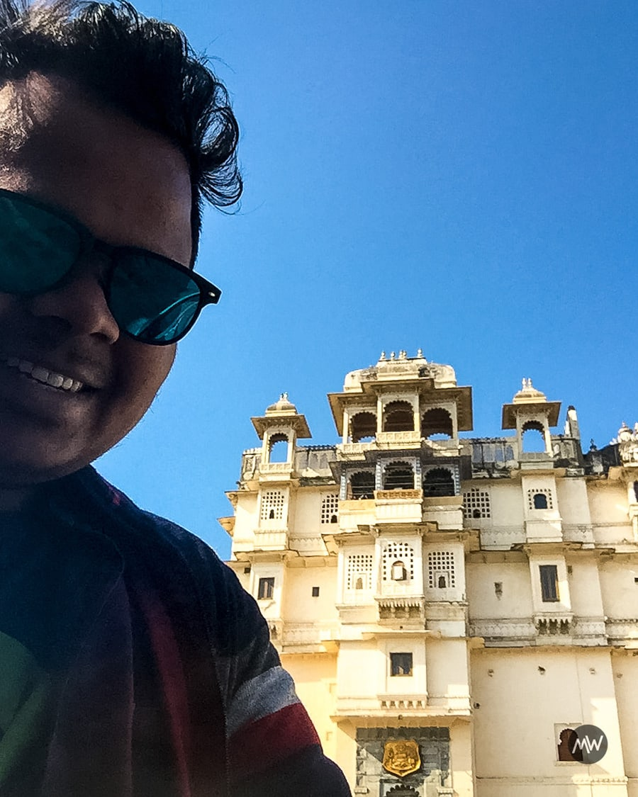 Me near main gate City Palace - Udaipur Places To Visit