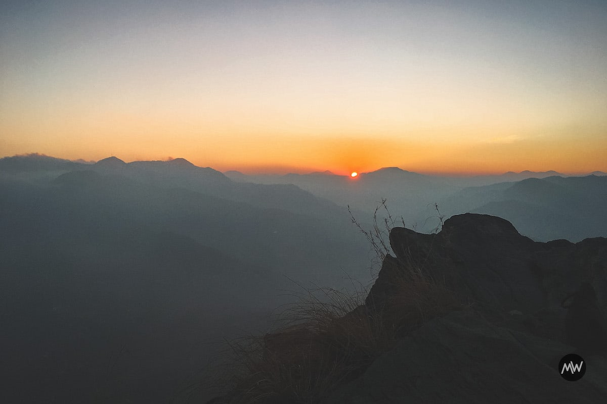 Sunset view from Chauli ki Jali point - Mukteshwar Dham