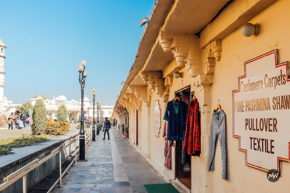 Textile Selling inside City palace Udaipur Places To Visit