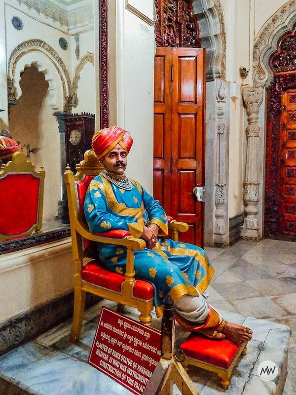 Krishna Raja Wadiyar - Mysore Palace Virtual Tour