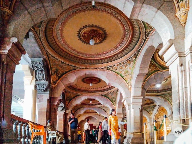 decorated ceilings - mysore palace virtual tour