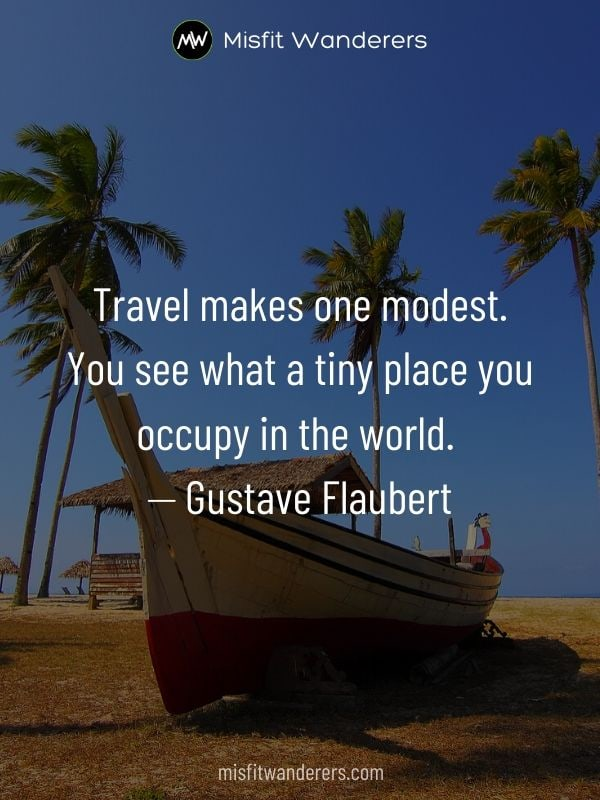 makes modest - best travel quotes