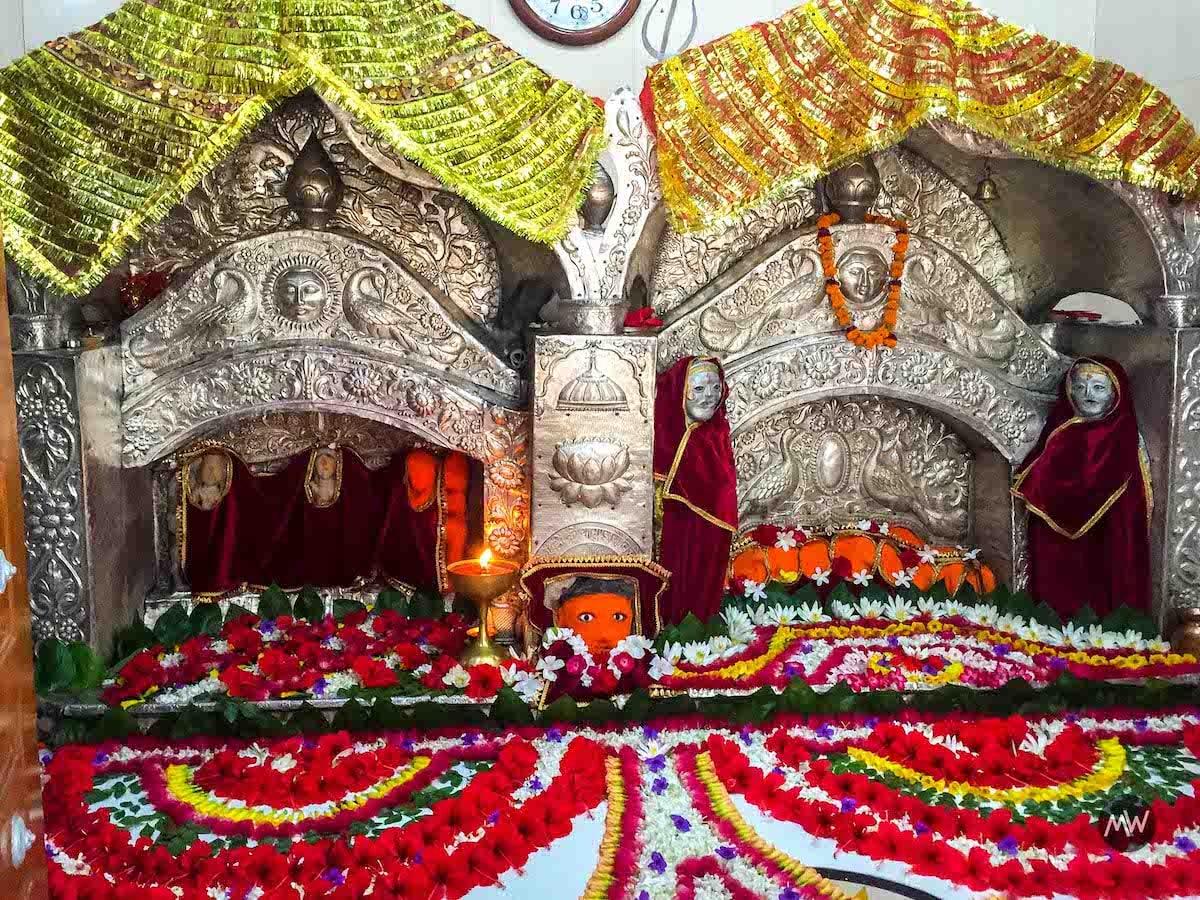 The Image of Goddess Durga Avatar Maa Chandrika Devi