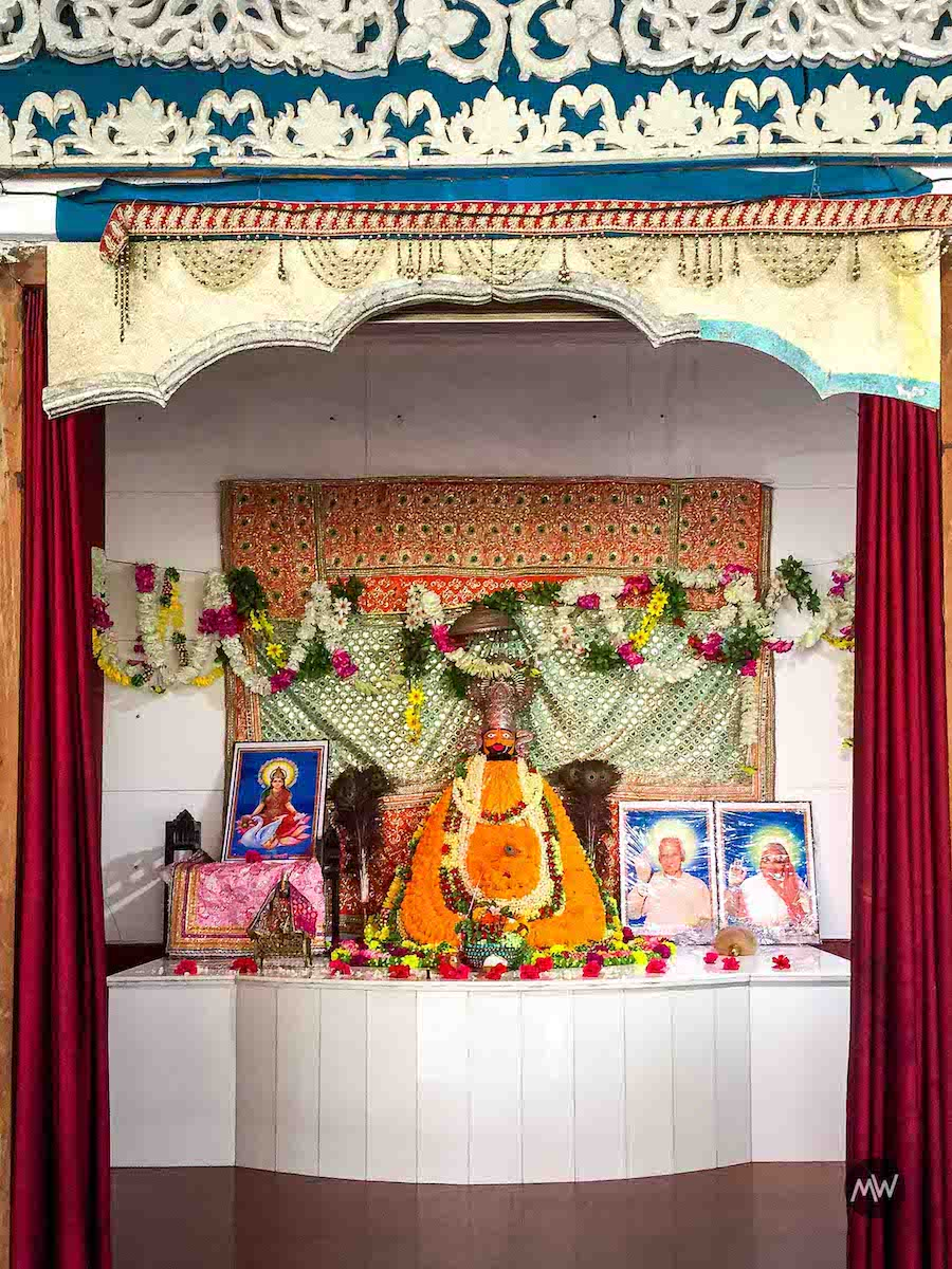 The Image of Khatu Shyam situated in the vicinity of Chandrika Devi Mandir