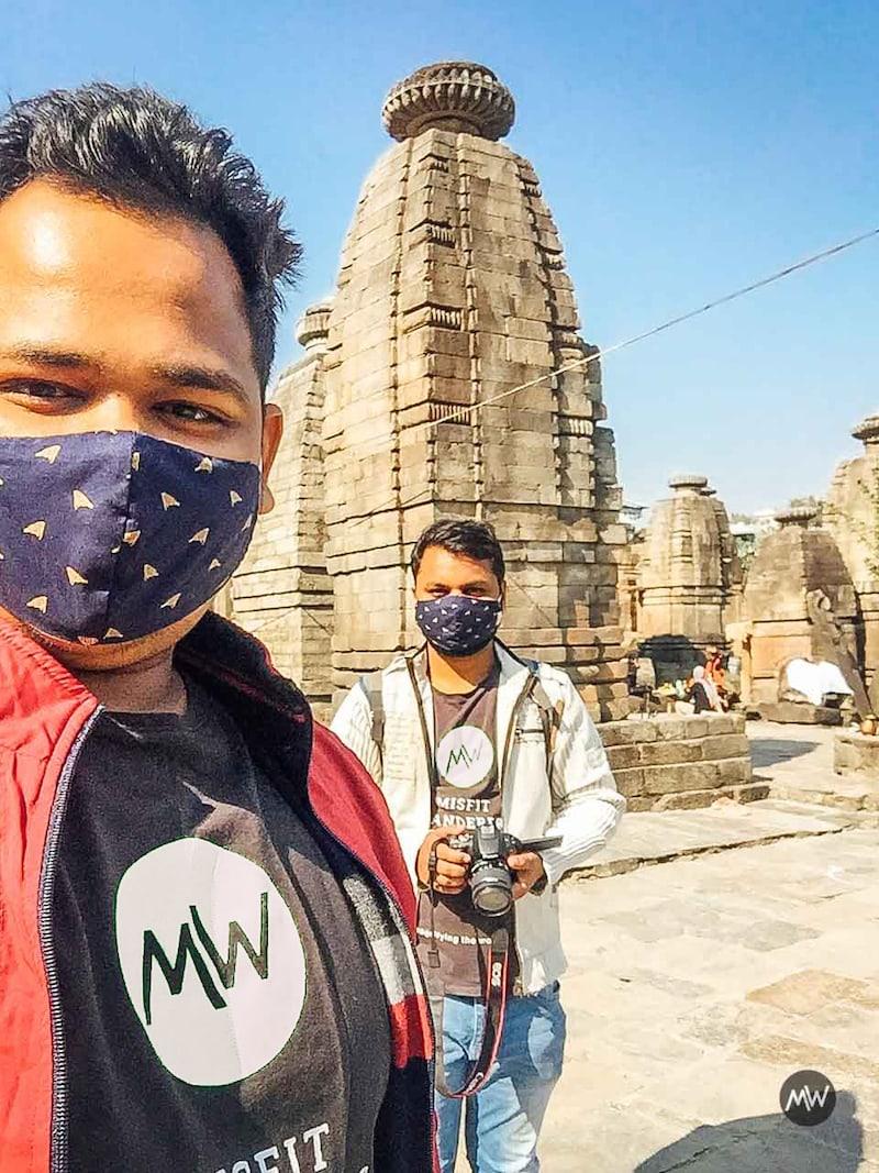 Me & Abhishek in front of Baijnath temple in Uttarakhand