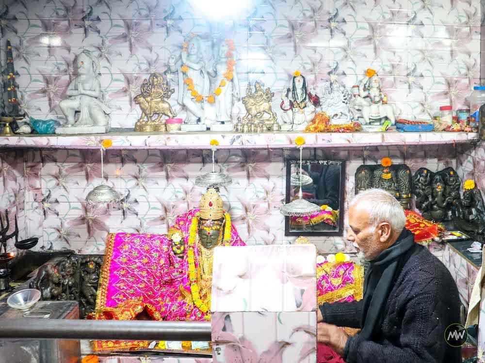 Nanda Devi and Kot Bhramari Devi image inside the temple