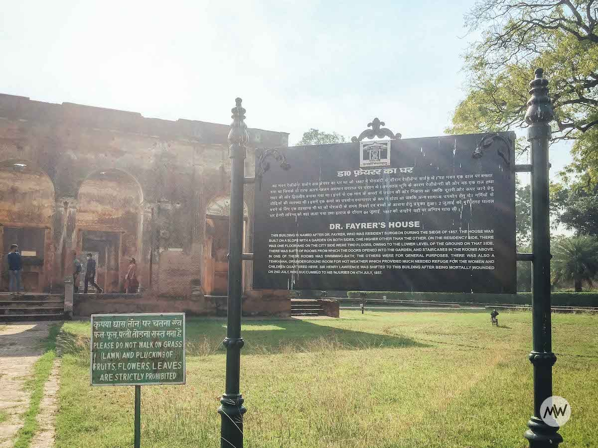 Dr Fayrer's House - The Residency Lucknow