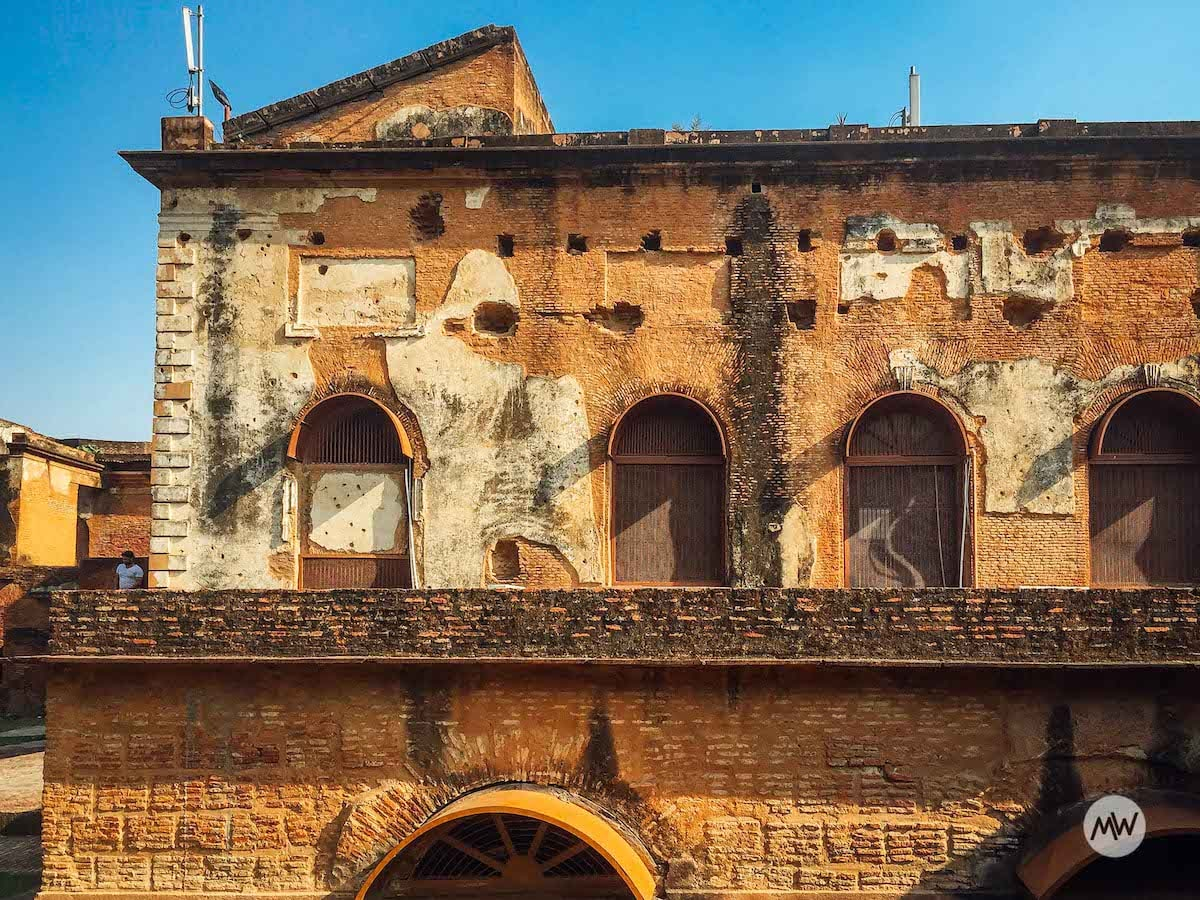 Marks of Cannonballs - The Residency Lucknow