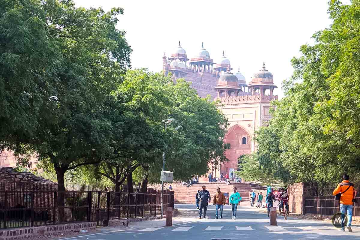 Way to fort from Badhsahi Gate at Fatehpur Sikri