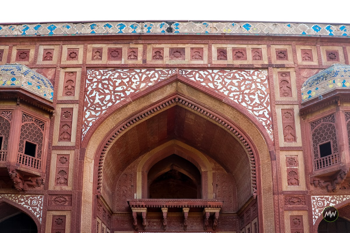 Beautiful Ornamentation of Kanch Mahal in Sikandra