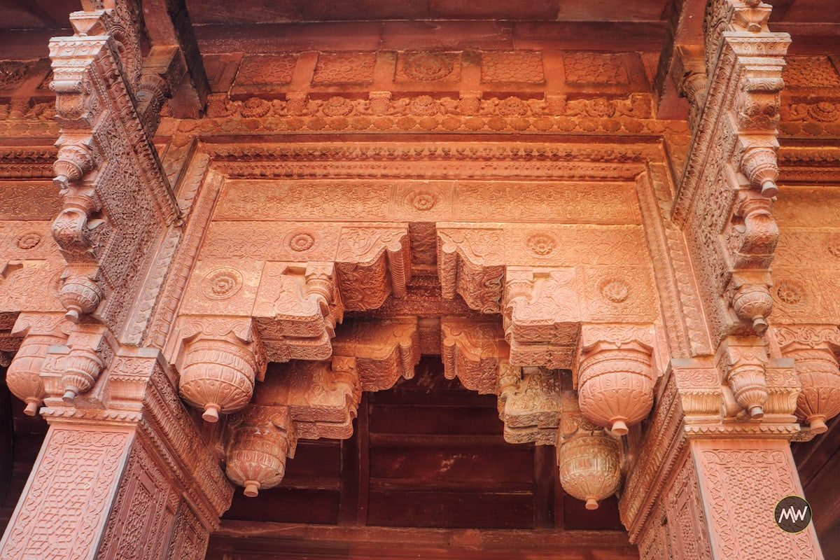 Beautiful carvings inside Jahangir Palace