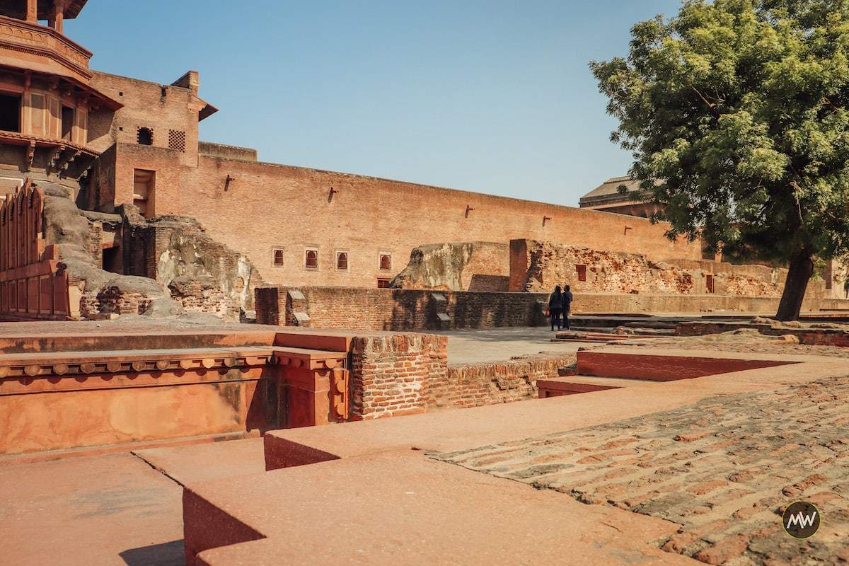 Ruined Part of Akbari Palace at Agra Fort