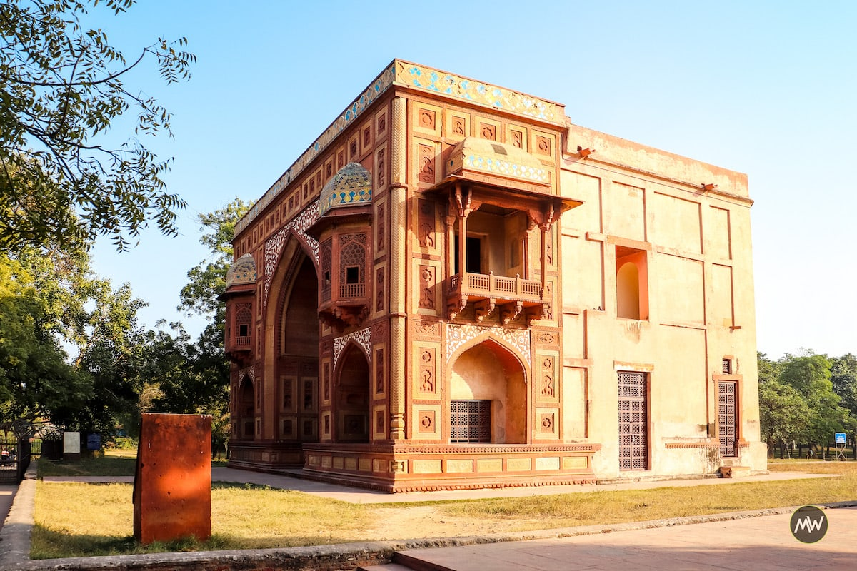 The building of Kanch Mahal at Sikandra in Agra