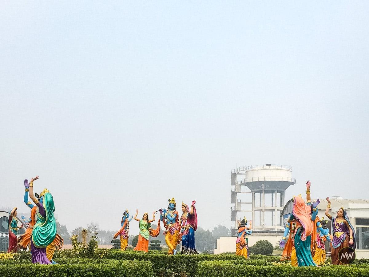 Lifesize figures of Krishna, Radha, and Gopis